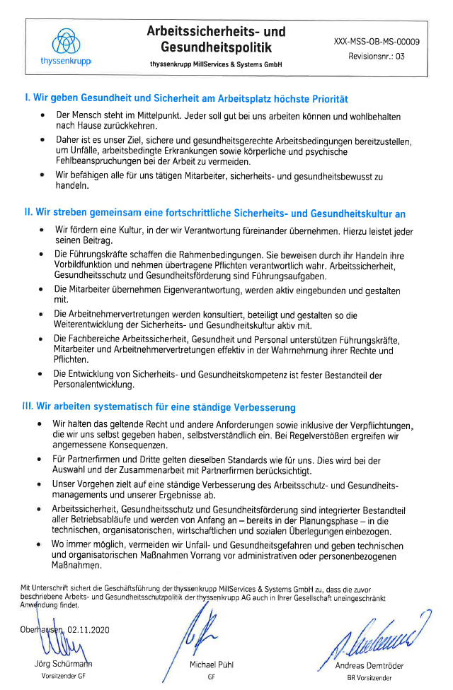 occupational health policy (available only in German)